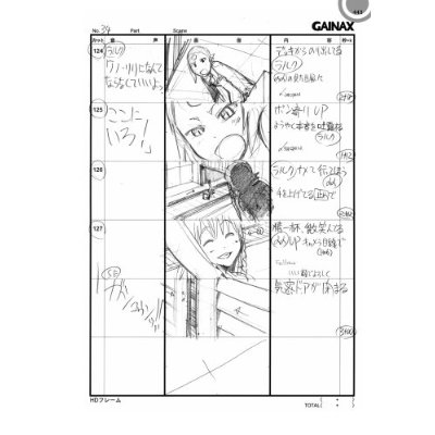 Japanese Anime Manga Storyboard Book  Aim For The Top