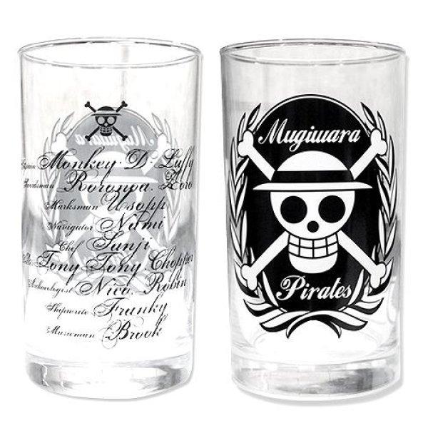 Photo1: ONE PIECE ACE glass + MUGIWARA Pirates glass sets (1)