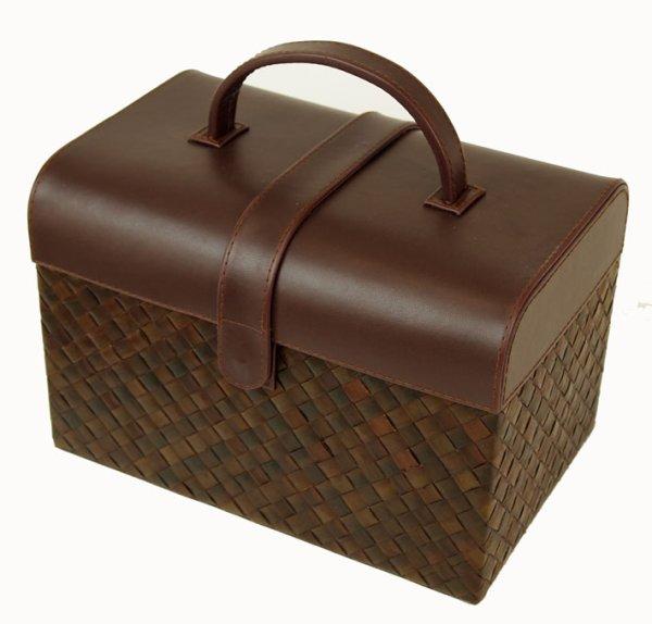 Photo1: Sewing box multi box first-aid box jewelry box (1)