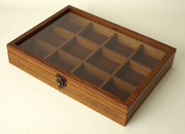 Photo1: collectors box large size accessories case jewelry box is made of wood (1)