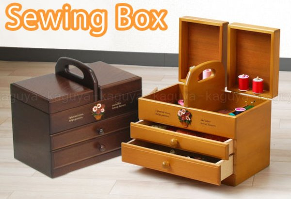 Photo1: made in japan sewing box CAPA 2colors (1)
