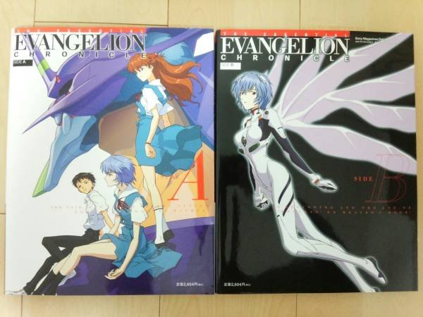 Photo1: illustration book - Neon Genesis Evangelion: EVANGELION CHRONICLE - SIDE A and B 2 volume sets (1)