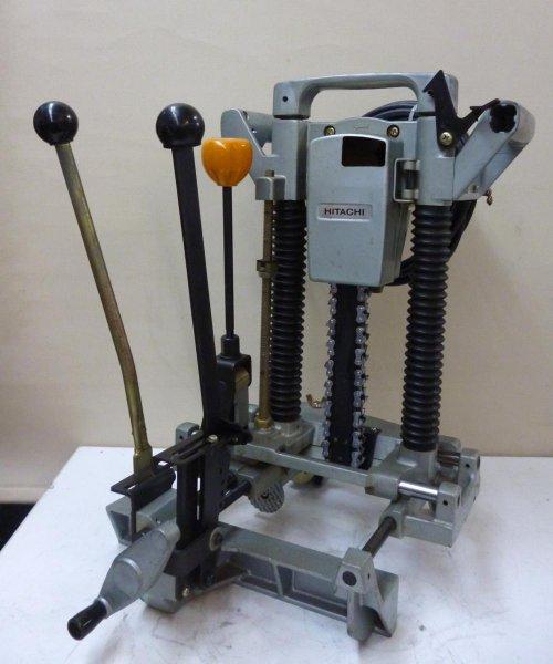 Photo1: HITACHI Chain Mortiser Woodworking tools AC100V CB21   #5 (1)