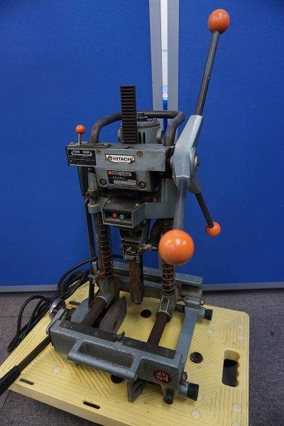 Photo1: HITACHI Chisel Mortiser Chisel Mortising Device AC100V BS30SA (1)