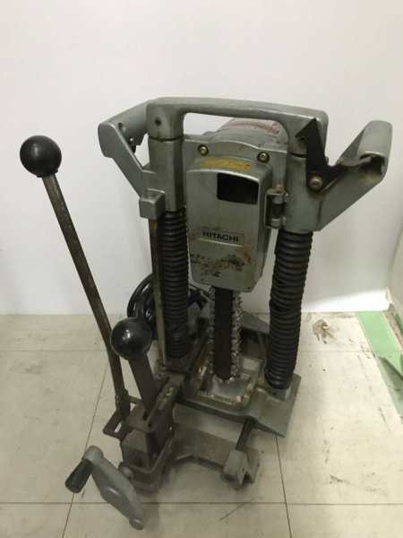 Photo1: HITACHI Chain Mortiser Woodworking tools AC100V CA22 #4 (1)
