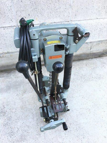 Photo1: HITACHI Chain Mortiser Woodworking tools AC100V BC21 #3 (1)