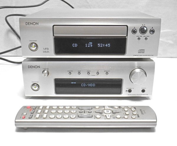 Photo1: DENON Amplifier DRA-F102 ,CD player DCD-F102 ,Remote control RC-1034 (1)