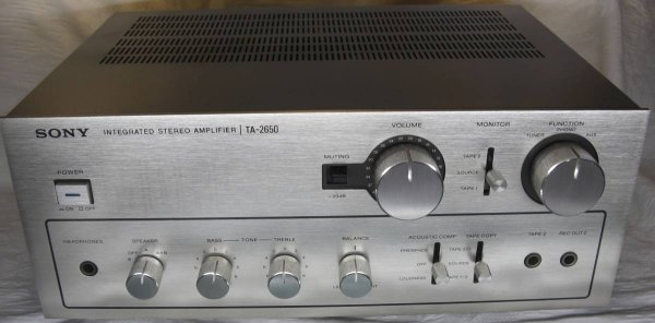 Photo1: SONY TA-2650 Integrated Amplifier (1)