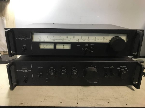 Photo1: SANSUI Integrated Amplifier & Tuner AU-207 / TU-207  (1)