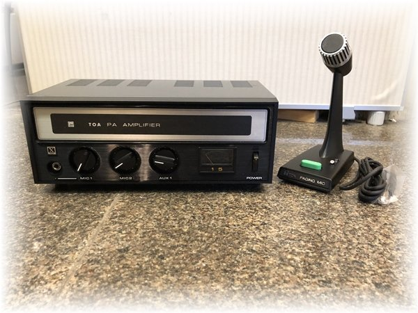 Photo1: TOA Desktop Type PA Amplifier TA-15X with Microphone PM-600 (1)