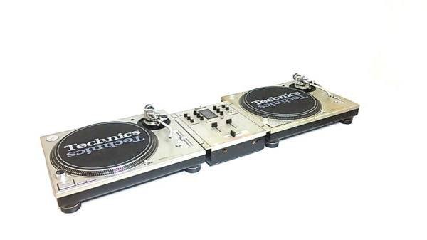 Photo1: TECHNICS DJ Set Turntable Technics Mixer Silver (1)