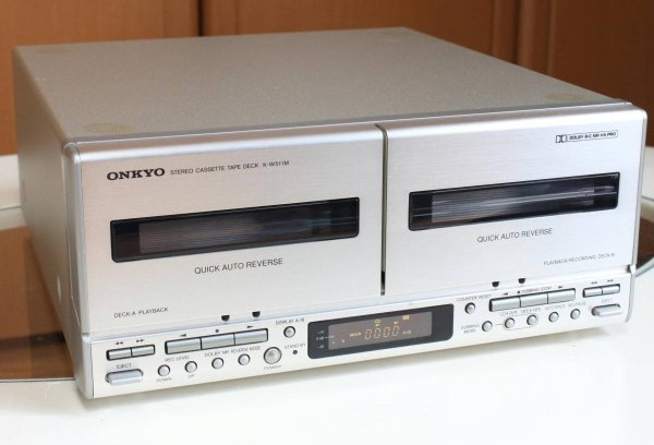 Photo1: ONKYO K-W511M Double Cassette deck (1)