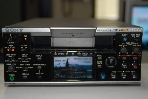 Photo1: SONY VIDEO DECK VCR HVR-M25J for profesional (1)