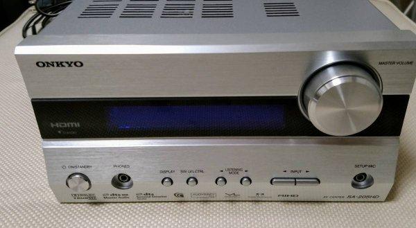 Photo1: ONKYO AV Center AV amplifier SA-205HD (1)