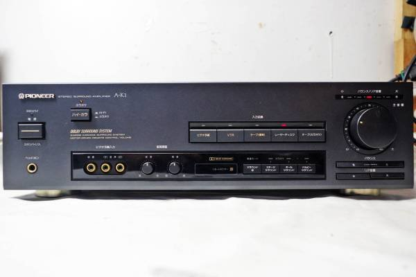 Photo1: PIONEER DOLBY (analog) Surround compatible AV amplifier A-K1 (1)