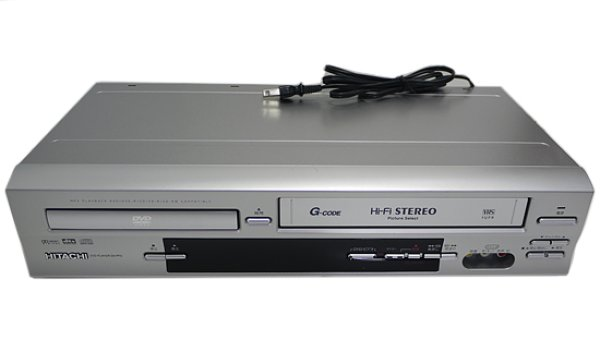 Photo1: HITACHI ■ VHS video integrated DVD player ■ DV-PF3 ■ (1)
