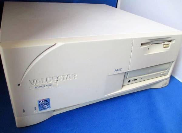 Photo1: NEC ValuStar PC-9821-V200/SZD⇒ 400MHzー32MB ー3.1GB  (1)