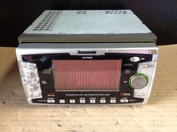 Photo1: Panasonic CQ-VX3200D CD/MD player (1)
