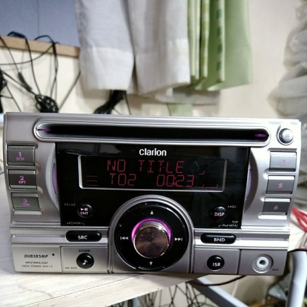Photo1: clarion DUB385MP CD Player 2DIN  (1)