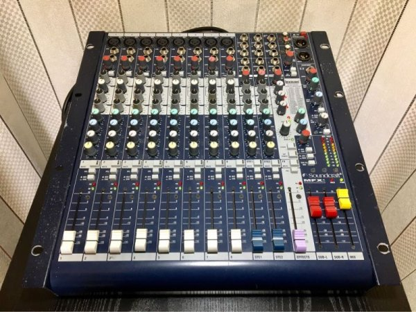 Photo1: Soundcraft MFXi8/2 analog mixer (1)