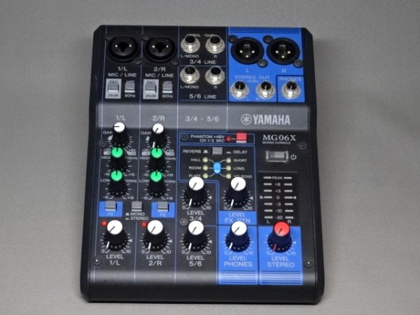 Photo1: YAMAHA MG 06X 6-channel mixer with effector (1)