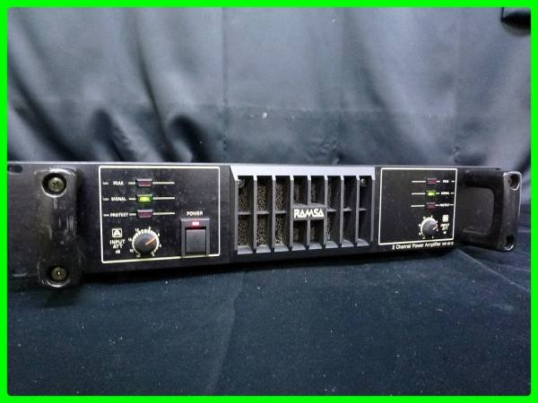 Photo1: RAMSA commercial power amplifier WP-9110 (1)