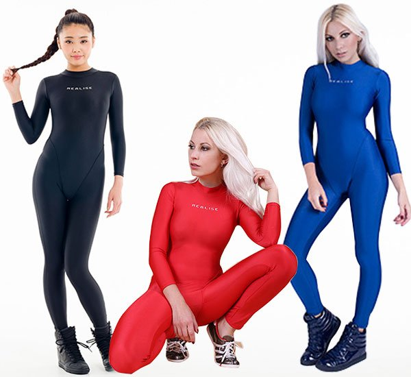 Photo1: REALISE(FB-1) catsuit full body swimsuit 4L size (1)