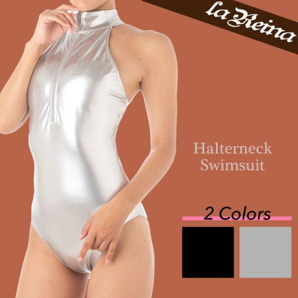 Photo1: LaReina RN-303 High neck Halterneck water polo swimsuit (1)