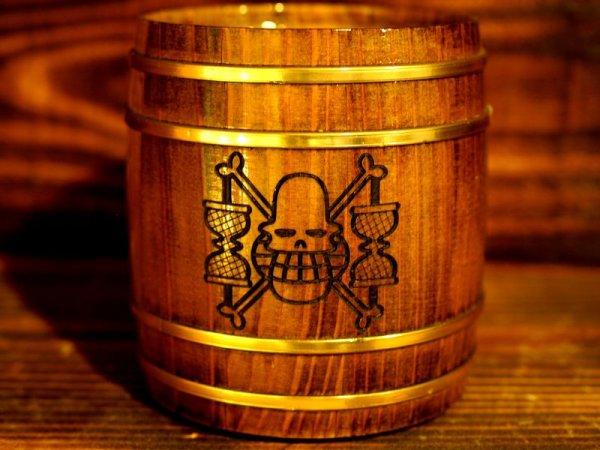 Photo1: ONE PIECE KIDARU (wooden butt) Beer Mug Krieg Pirates Ver. 380ml (1)