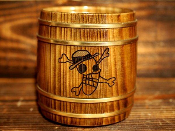 Photo1: ONE PIECE KIDARU (wooden butt) Beer Mug Monkey D. Luffy JUMP Ver. 380ml (1)