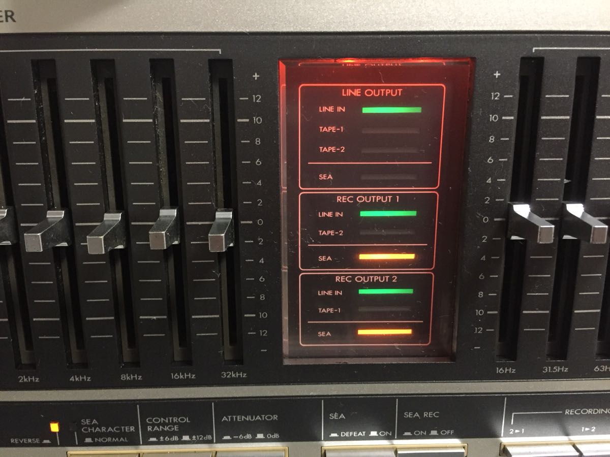 Audio Equalizer Victor Sea 70 Graphic Japanese